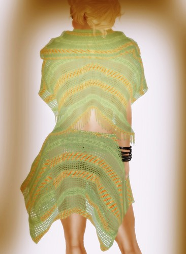 [Coming Soon] A&A Fashion Poncho Skirt Set Green Orange