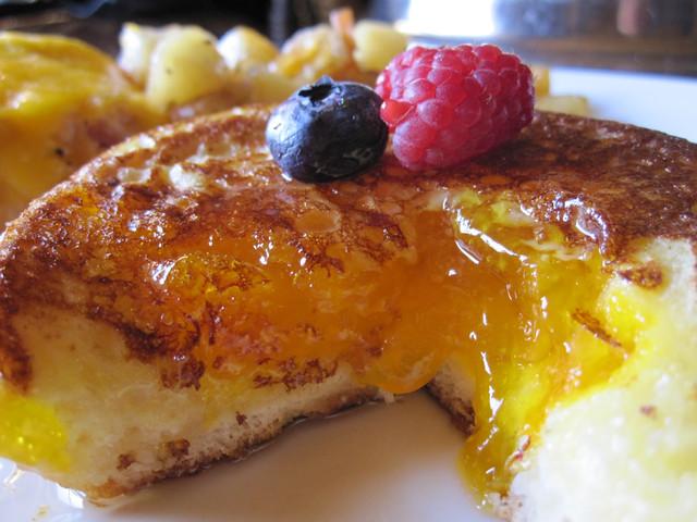Inside Apricot Brioche French Toast