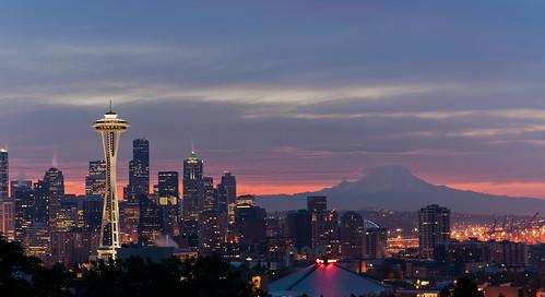 フリー写真素材, 建築・建造物, 朝日・朝焼け・日の出, 都市・街・村, 高層ビル, アメリカ合衆国,