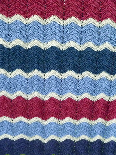 Granny Chevron Blanket...Wool...