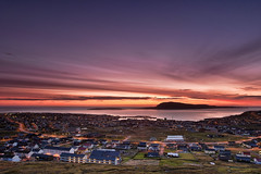 Trshavn (Mortan Mortensen) Tags: houses sea sky sun nature sunrise faroeislands ladscape torshavn trshavn froyar digitalcameraclub frerne suurstreymoy nl