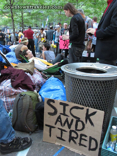 NYC Occupy Wall Street Rally Oct 8 2011 sick and tired