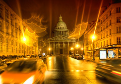 The Pantheon (Stuck in Customs) Tags: world road city travel urban blur paris france cars wet rain seine architecture digital dark french photography evening design blog high europe ledefrance republic traffic dynamic stuck streak roman district capital pantheon july bank historic southern photoblog mausoleum software dome western classical imaging northern region range metropolitan hdr neoclassicism leftbank tutorial trey faade sorbonne confluence neoclassical customs relic chasse panthon latinquarter quartierlatin rpubliquefranaise 2011 saintgenevieve ratcliff rgionparisienne 5tharrondissement 6tharrondissement universitdeparis larivegauche stuckincustomscom nikond3x