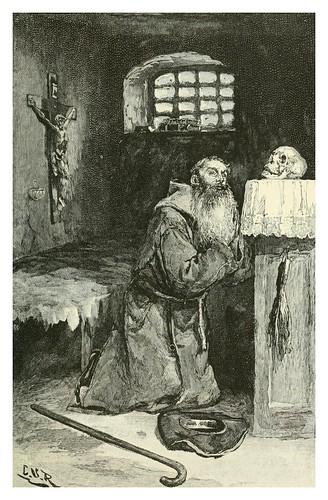 013-Monje en su celda-Memento mori-Spanish vistas-1883- George Parsons Lathrop
