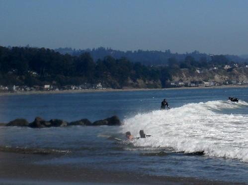 Scuba surfs Capitola