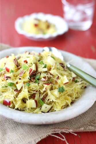 Cookin' Canuck - Spaghetti Squash with Apples & Toasted Pecans Recipe