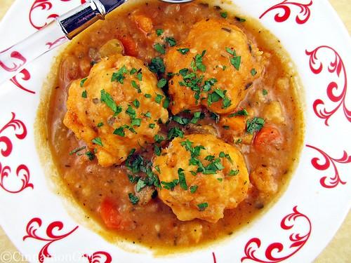 Vegetable Soup with Parmesan Dumplings