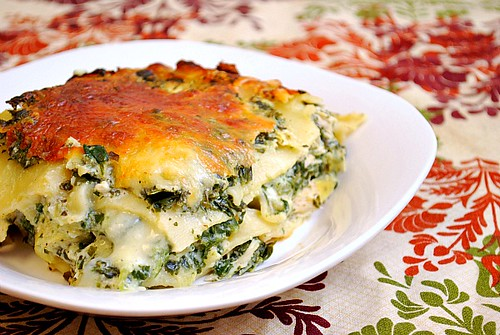 Alfredo Chicken, Spinach & Artichoke Lasagna