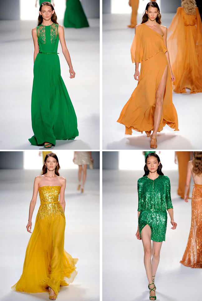 Ellie Saab SS 2012 green & yellow