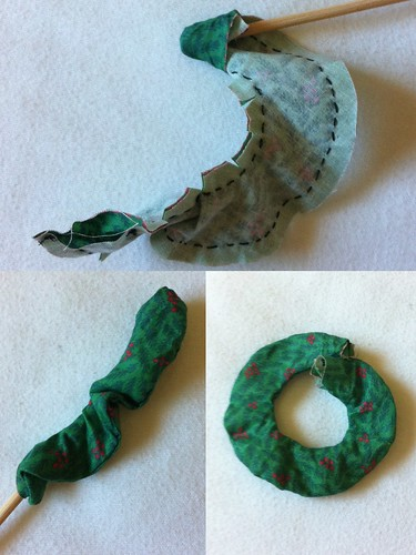 Mini Wreath Ornament construction example part 2
