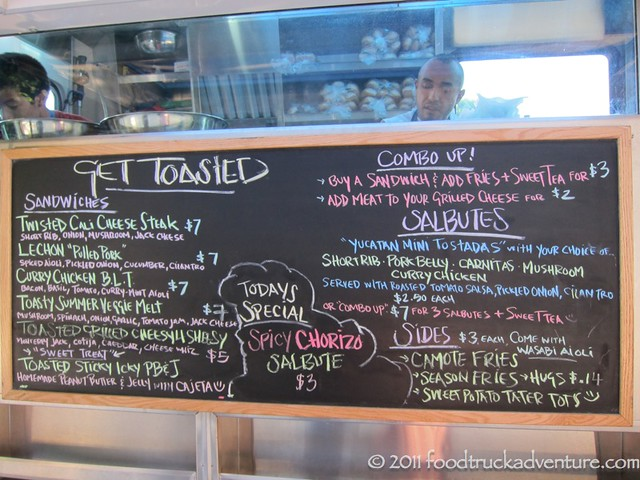 Get Toasted Truck's menu