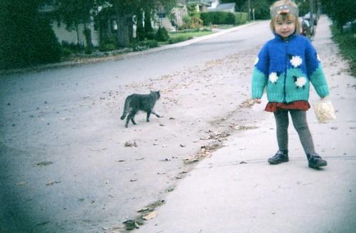Gretchen, sheep & a cat