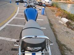 Asiento de moto Triumph Bonneville tapizado con logo serigrafiado (Tapizados y gel para asientos de moto) Tags: triumph moto gel bonneville asiento sillin tapizado termograbado viscoelastica