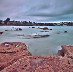 October #15 (pike head) Tags: uk sea england seascape southwest beach water rock olympus devon torquay hdr torbay southdevon e520 photoengine oloneo