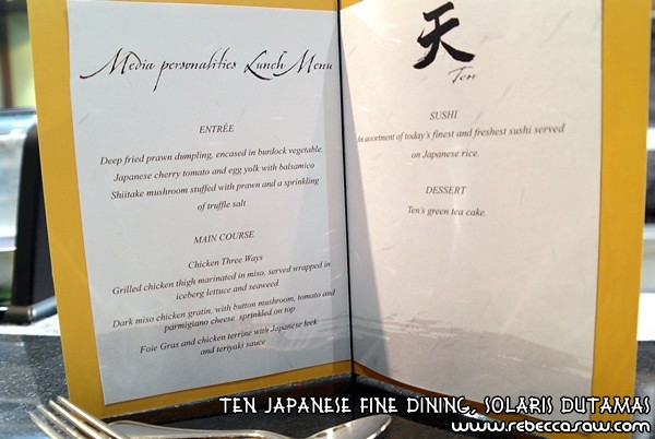 Ten Japanese Fine Dining, Solaris Dutamas-08