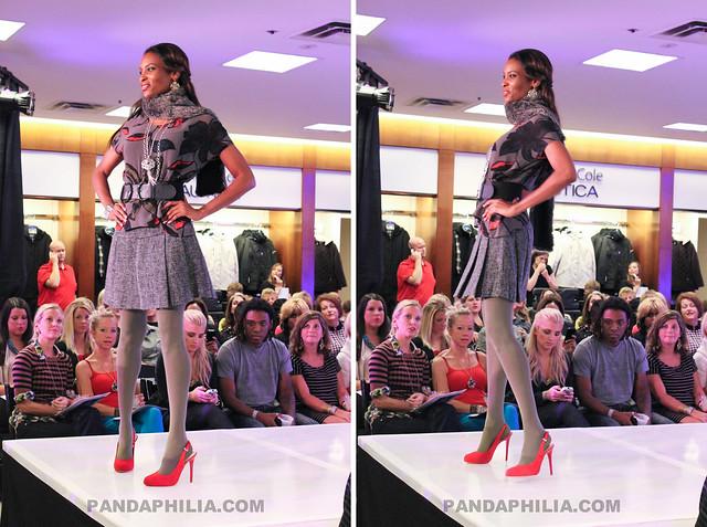 red heels grey