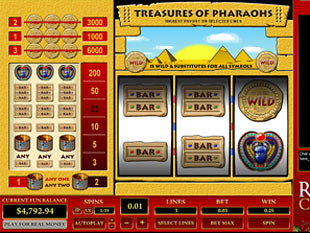 Treasure of Pharaohs 3 Lines slot game online review