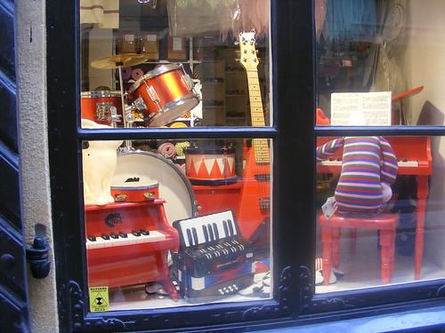 Detalle del escaparate de una tienda de souvenirs de Gamla Stan.