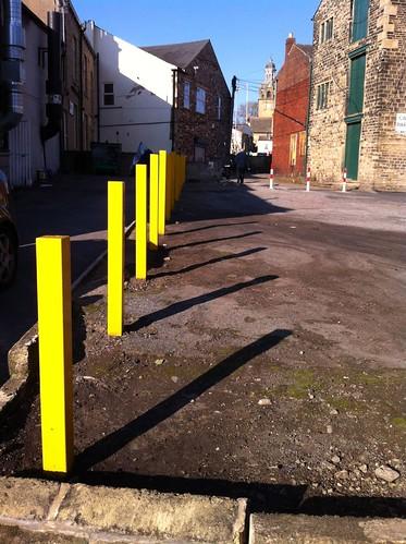 yellow posts