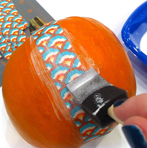 mod podge pumpkins 6