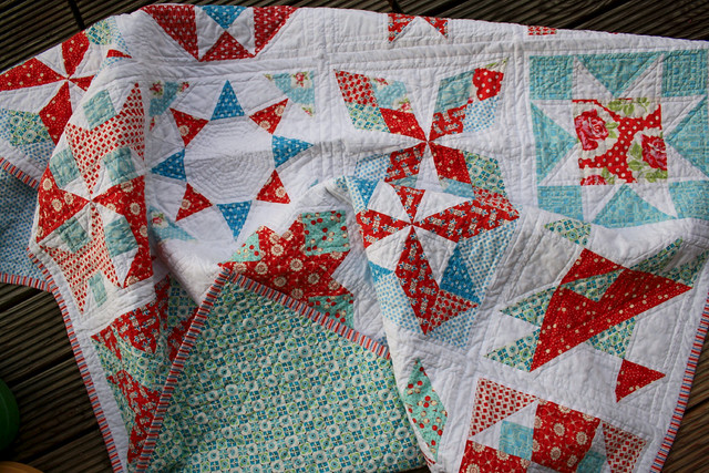 summer sampler with backing showing