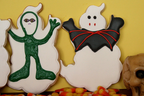 2010 Halloween Ghost Cookies.