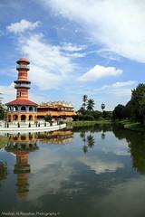 Bang Pa-In Summer Royal Palace - Thailand (Meshari Al-Rezaihan) Tags: blue trees green water clouds canon thailand bangkok royal bluesky palace palmtrees summerpalace canoneos royalpalace bangpain canonlens พระราชวังบางปะอิน meshari bangpainroyalpalace lens18200mm canon550d canonlens18200mm alrezaihan thaikingspalace