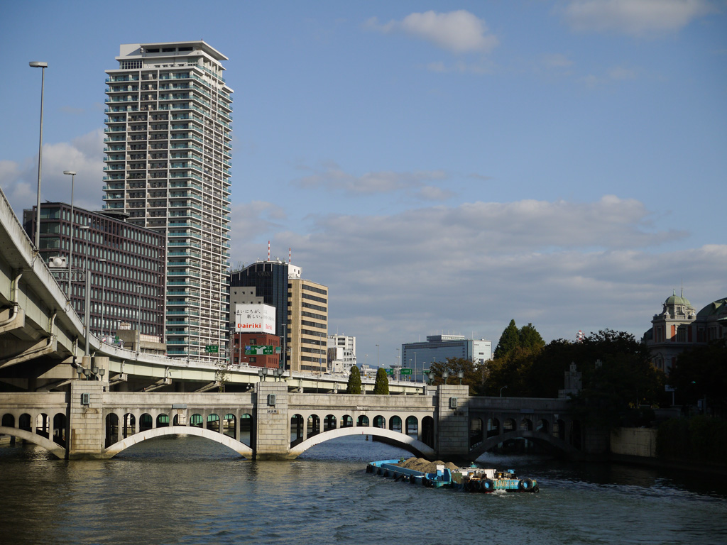 view from Oebashi bridge