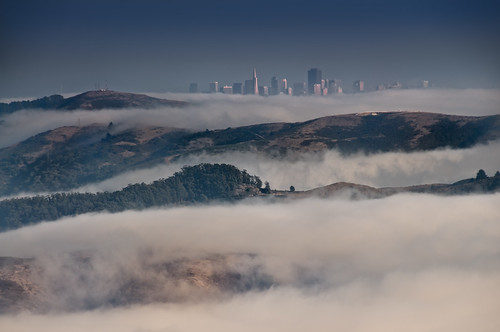 Marin Headlands and San Francisco from Mt Tamalpais by Harold Davis