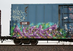 Heat (quiet-silence) Tags: railroad art train graffiti flat railcar heat boxcar graff freight tci goldenwest fr8 ssw ssw24131