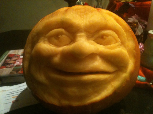 Pumpkin carved by Brad Johnson
