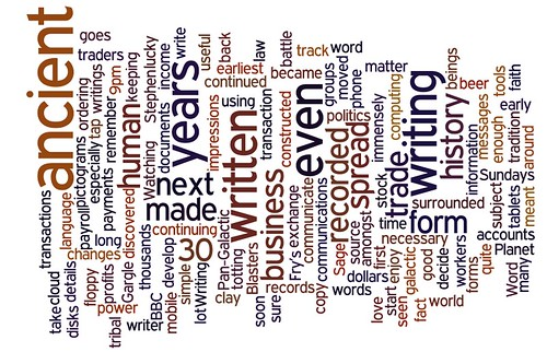 Blog post wordle