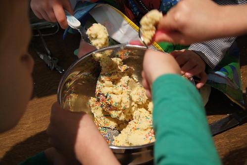 freezing cookie dough - mixing