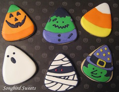 Candy Corn Halloween Cookies (Songbird Sweets) Tags: halloween pumpkin witch ghost frankenstein mummy candycorn sugarcookies songbirdsweets