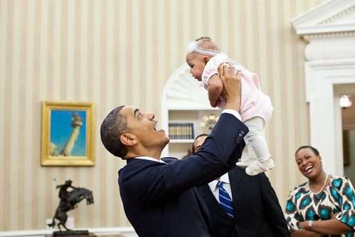 President Obama's love for children!