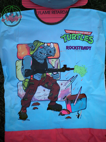 "Collegeville Costumes :: TEENAGE MUTANT NINJA TURTLES { OPPOSITION FORCES! } : ""ROCKSTEADY"" Medium Children's Costume with Mask ii (( 1990 ))"