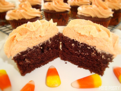 Devil's Food Cupcakes with Caramel Frosting
