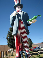 Nick and uncle sam (egleytaylor) Tags: family autumn newmexico fall october nick roadtrip hatch eliza sparkys reeve greenchile