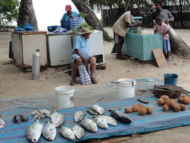Street Market in Mahe Island, Seychelles