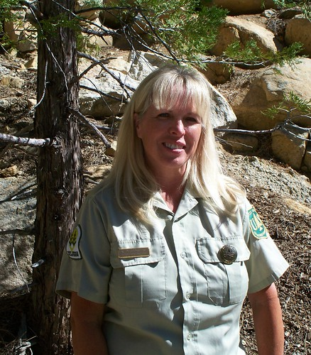 Jana Desrocher is one of about 75 members of the Forest Service Volunteer Association on the San Bernardino National Forest.