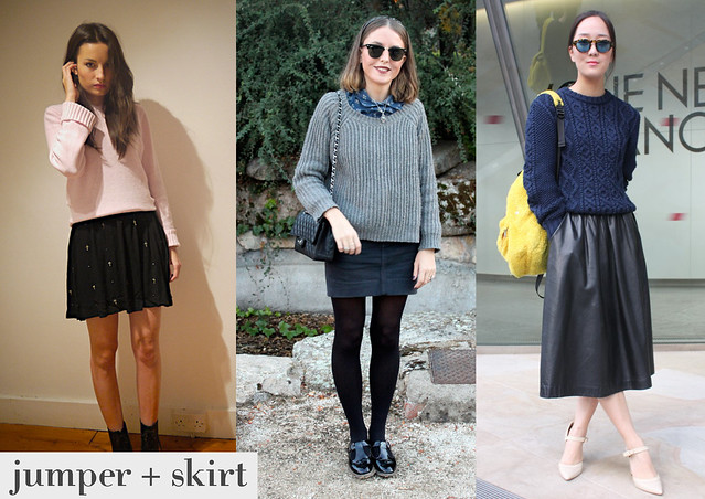 jumper plus skirt