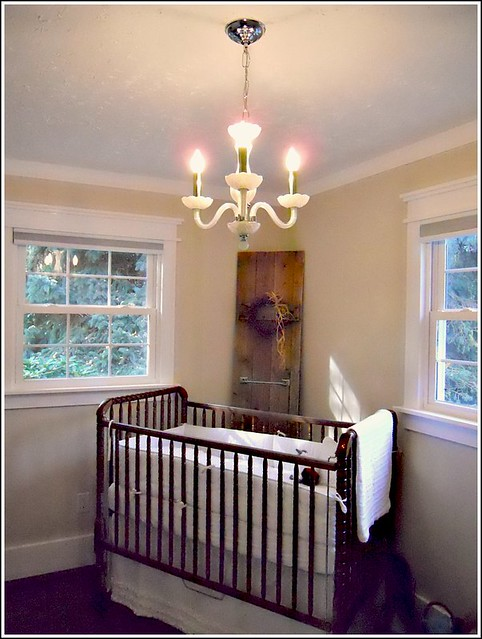 Cute I um absolutely in love with this dark stained Jenny Lind crib and how it contrasts with the stark white bedding I made It us exactly what I wanted u and I