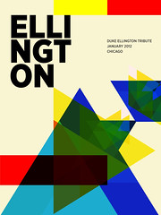Ellington 1 (Paul N Grech) Tags: musician music art poster grid typography design graphic piano jazz duke illustrator bigband composer ellington paulgrech