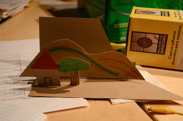 Cardboard pop-up citiscapes