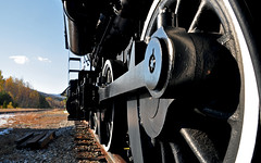 Feeling cranky (Bob Gundersen) Tags: statepark black green train interesting nikon image shots country picture engine newengland newhampshire engineering places whitemountains nh mtwashington trainstation huge gears scenes gundersen gorham livefreeordie northernnewhampshire d5000 greatnorthwoods abovethenotches bobgundersen