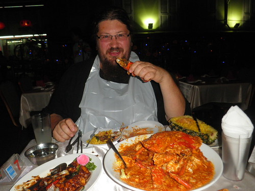 me eating chilli crab