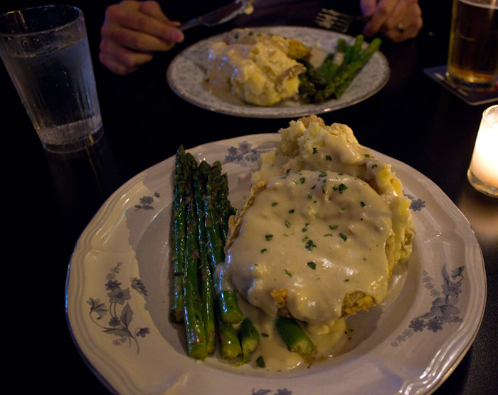 HUDSON has ridiculously tasty 'veggie fried steak.'