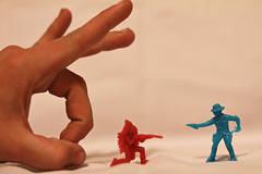 111/365: The Hand of...well, me. (Cameron John Sarradet) Tags: toys cowboy hand indian cameron figures 365project sarradet cameronsarradet