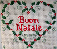 buon natale (LaPaTs) Tags: christmas cross stitch ornament