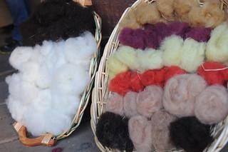 La lana colorata